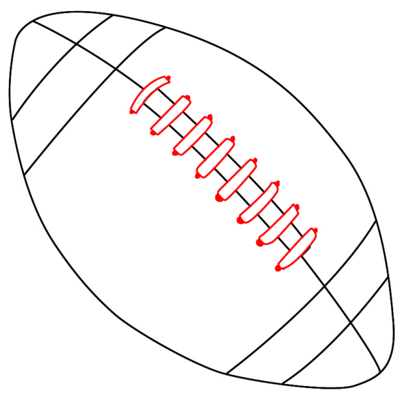 how to draw a football instant answer